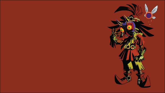 The Legend Of Zelda Video Games Red Background Zelda Skull Kid