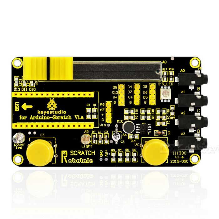 Keyestudio Robotale Scratch Sensor Module Board for Arduino - Black. Find the cool gadgets at a incredibly low