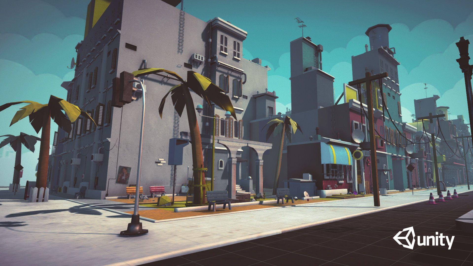 Cartoon low poly modular city pack 3d model obj 3ds fbx blend dae
