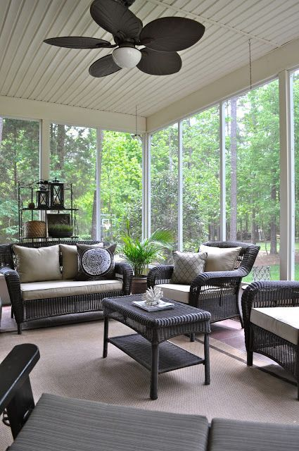 Comfy And Relaxing Screened Patio Design Ideas Sunroom