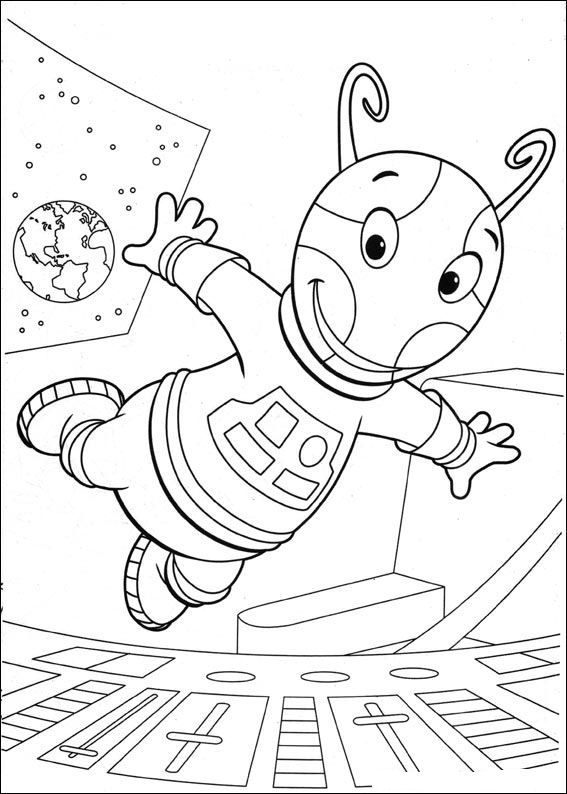 Kleurplaat Backyardigans Backyardigans Dessins Coloriages