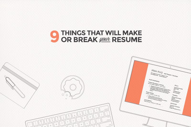 9 Rookie Mistakes That Will Ruin Your Resume Web Developer Job