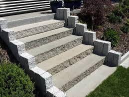 Bevorzugt Bildergebnis für palisaden für travertin stufen | Treppen-Stufen JT03
