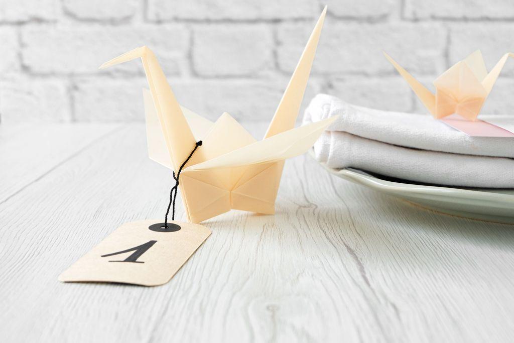Segnaposto Matrimonio Giapponese.1000 Gru Origami Per Un Matrimonio Hand Made Matrimonio Fai Da