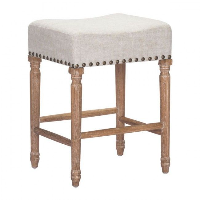The Anaheim Counter Stool Has A Plush Backless Seat Stunning
