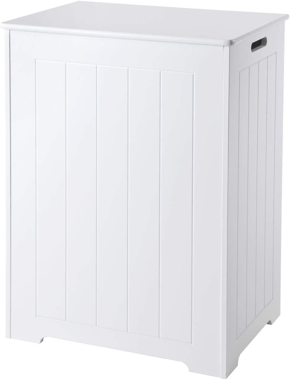 Elegant Brands Waschetruhe Aus Holz Weiss 36 X 50 X 68 Cm Amazon De Kuche Haushalt Schrank Zimmer Haushalt Waschetruhe