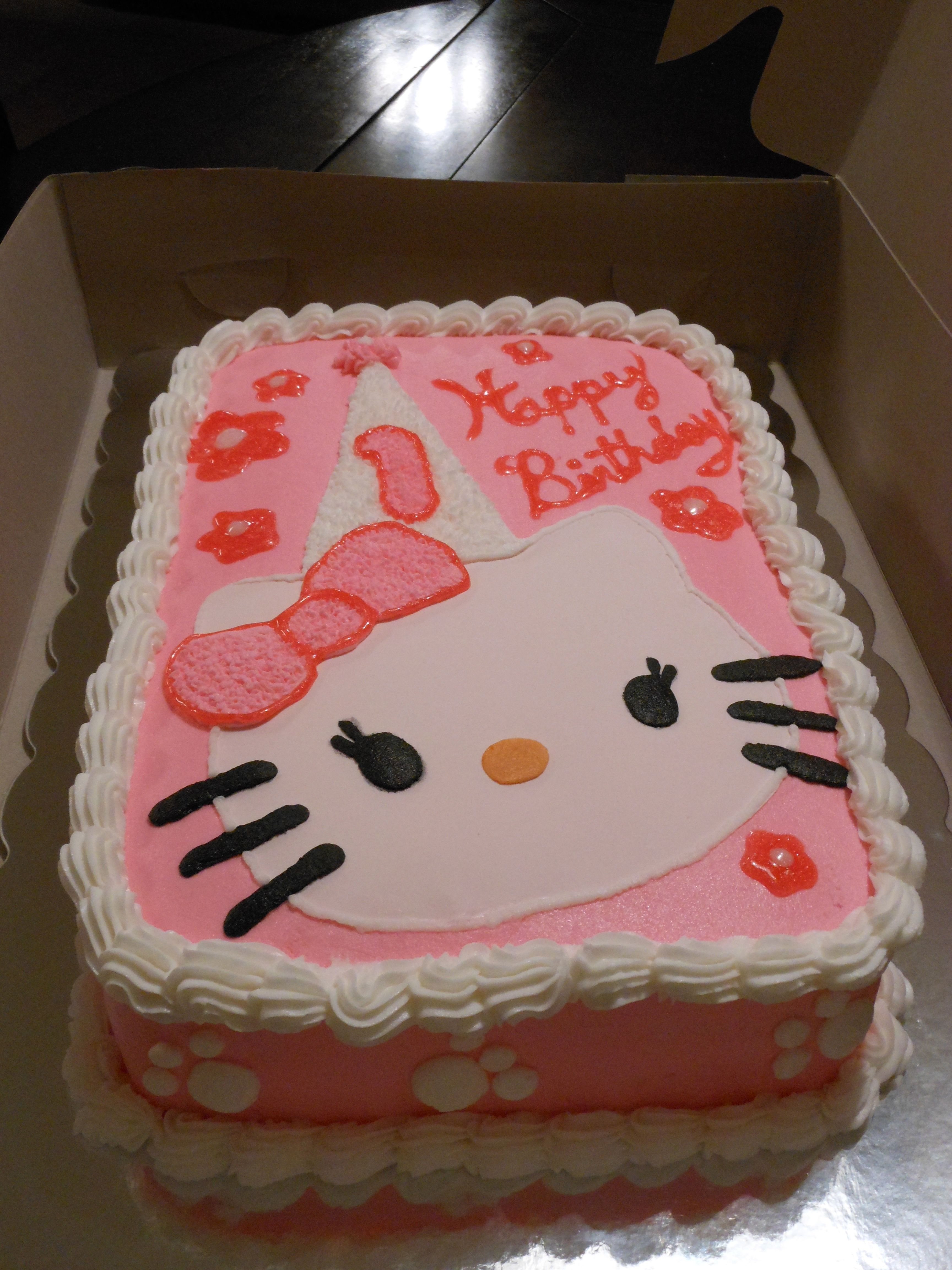 Hello Kitty 1st Birthday Cake My Baking Projects Pinterest