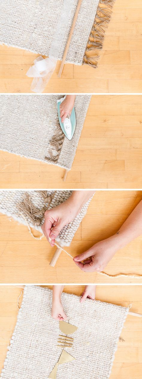 5 Minute Home Decor Hack: How to Make an Easy Woven Wall ...