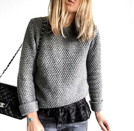 Grey knit and Chanel
