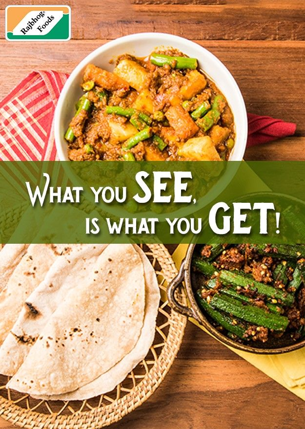 Made with authentic Indian spices and herbs, Rajbhog always gives you exactly what's promised. #IndianFood #HeatnEat
