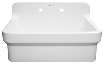 Whitehaus Whcw3022 8 Wall Mount Laundry Sink With A High