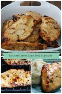 Favorite Lemon Lime Soda Marinade for Grilled Chicken Breasts  I use Sprite.  Yum!
