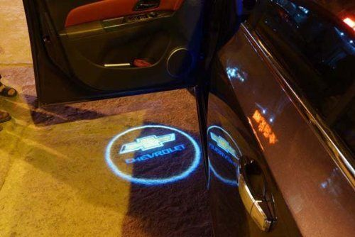 Wireless Chevrolet Chevy Ghost Door Logo Projector Shadow Puddle