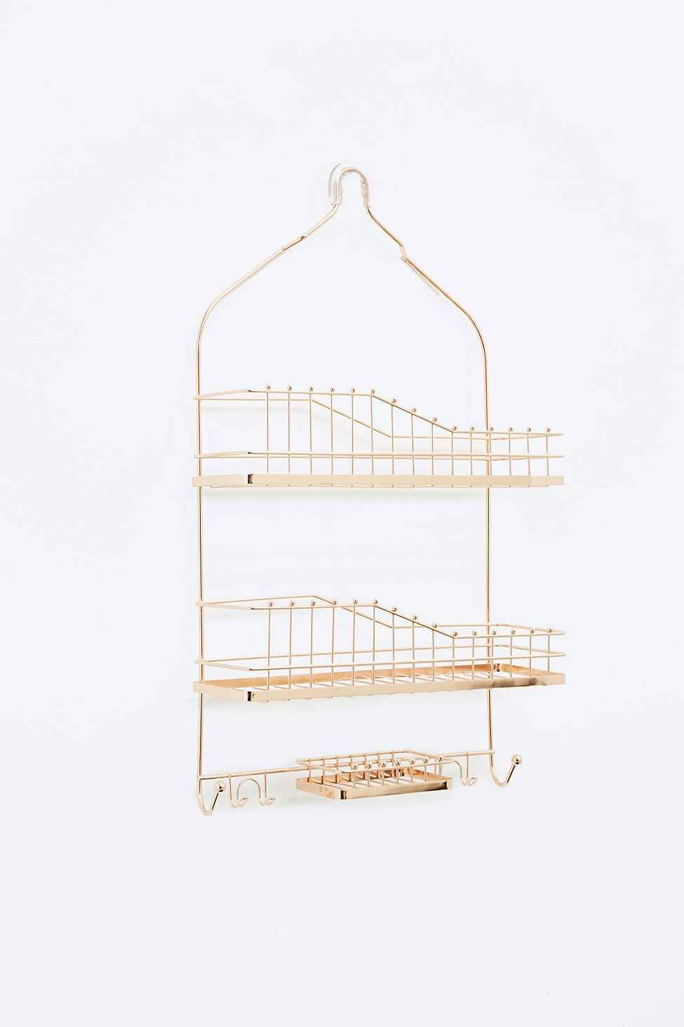 Hanging Shower Caddy in Rose Gold | Ideas for the House | Pinterest ...