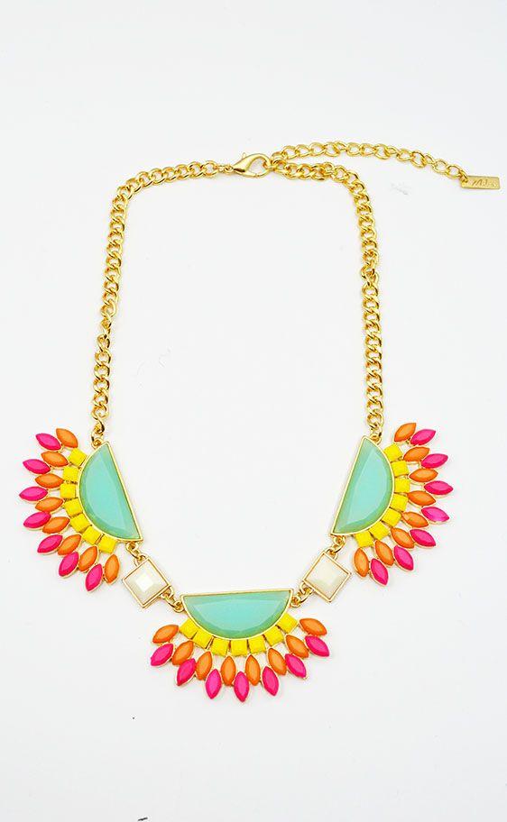 Oval Multicolor statement necklace! https://belleboutiquenwa.com/accessories/jewelry/half-round-oval-necklace.html #statementnecklace #multicolor #jewelry #trendyaccessories #xoxoBelle #fashion