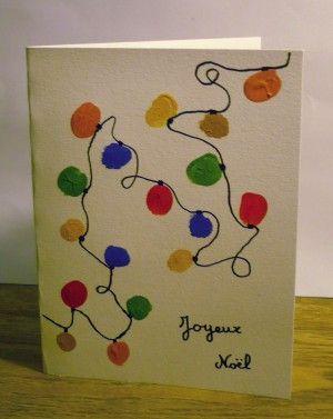 Carte de Noël facile à réaliser par un enfant | Cartes de noël