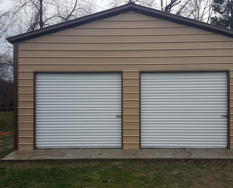 1 24 Wx30 Lx11 H Garage Vertical Roof Metal Garage Buildings Metal Garages Metal Buildings