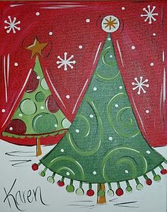 Snowman Canvas Painting Ideas Craft Can We Paint These Christmas Paintings Tree Holiday