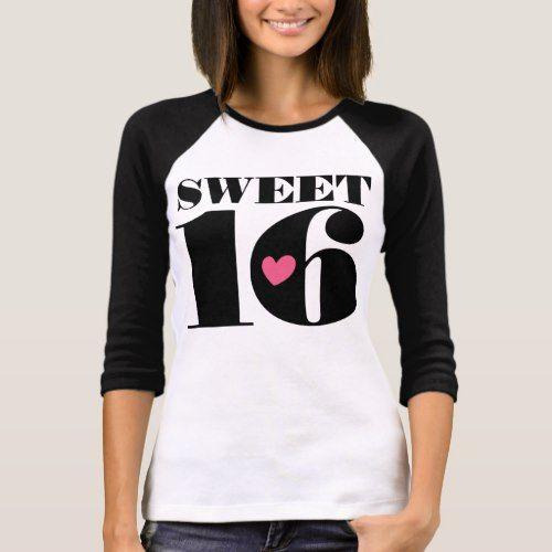 Sweet 16 Sixteenth Birthday Tee Shirt