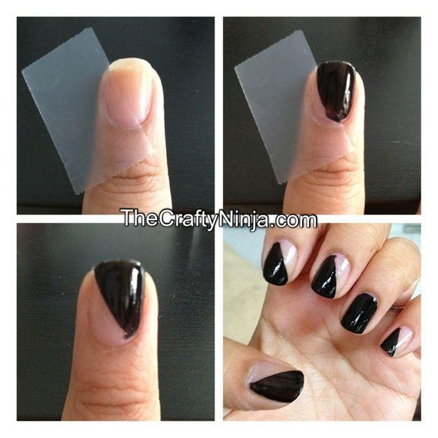 10 impresionantes diseños de uñas usando cinta adhesiva | En el Show ...