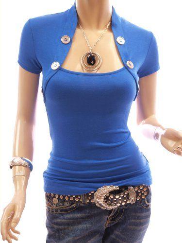 Patty Women Beautiful Bolero Style Embellished w/ Buttons Blouse Top | Traveling Of Life#fashion #women #bags #shoes #clothing