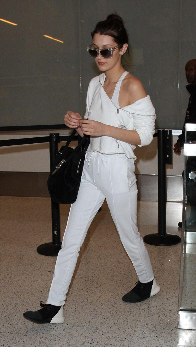 Bella Hadid Wears New Adidas Tubular