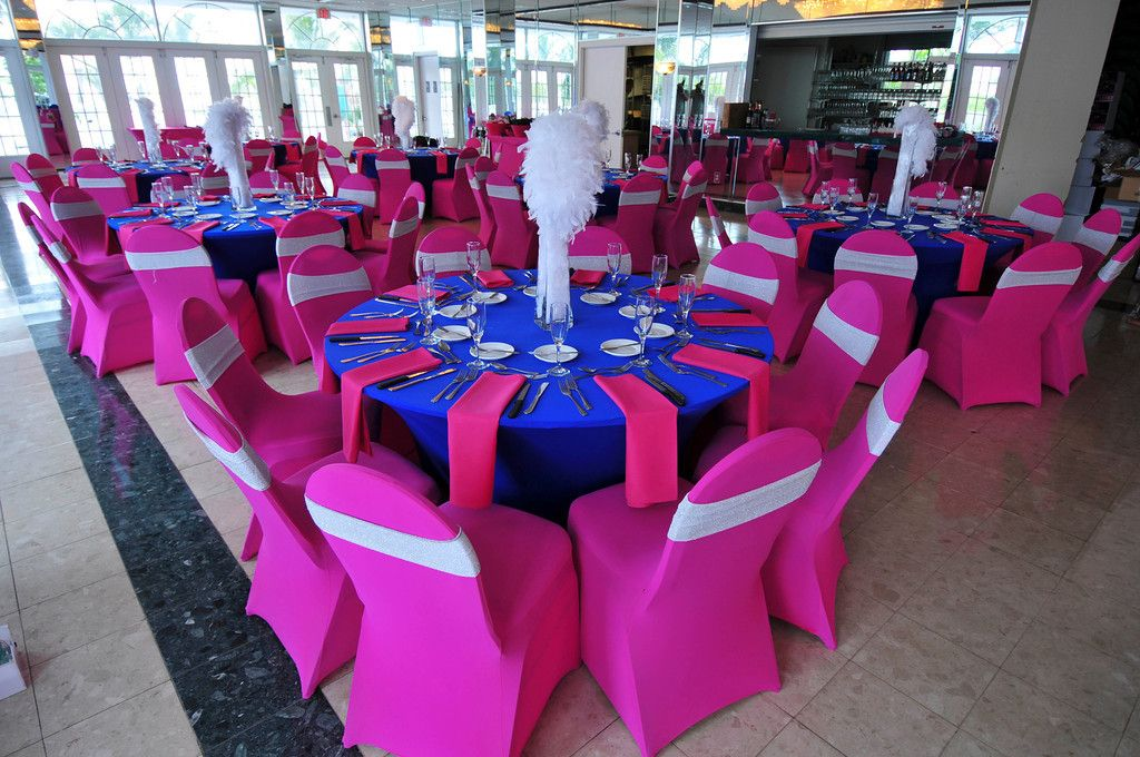 Styling Tips For Embracing A Beach Wedding Theme: Modern South Beach Style Fuchsia & Royal Blue St. Pete