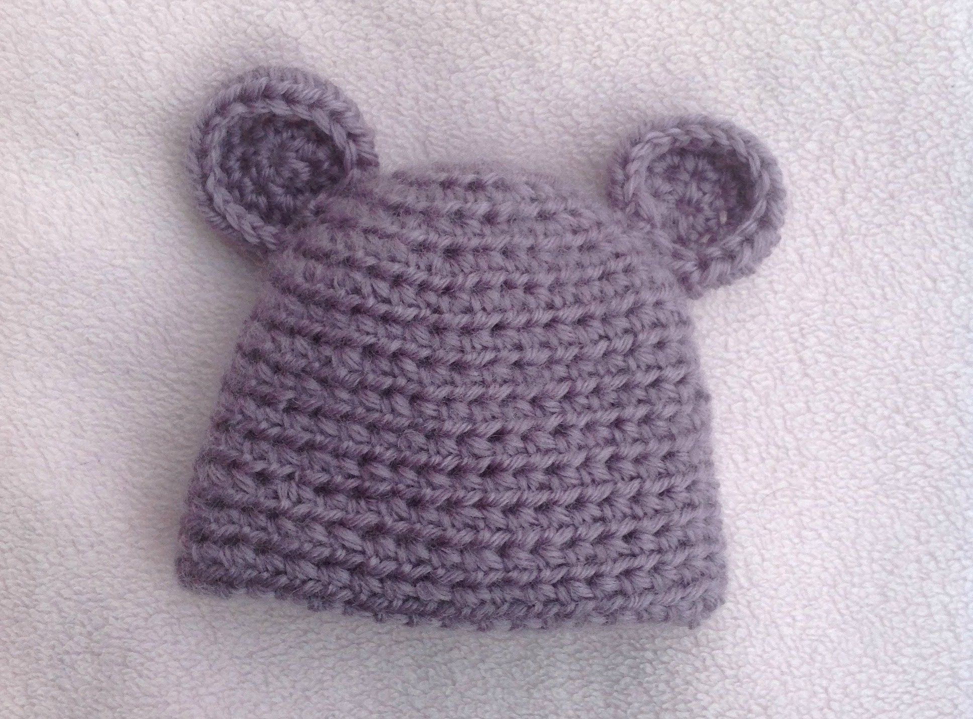 HOW TO CROCHET A VERY EASY BABY HAT TUTORIAL | Crochet | Pinterest ...