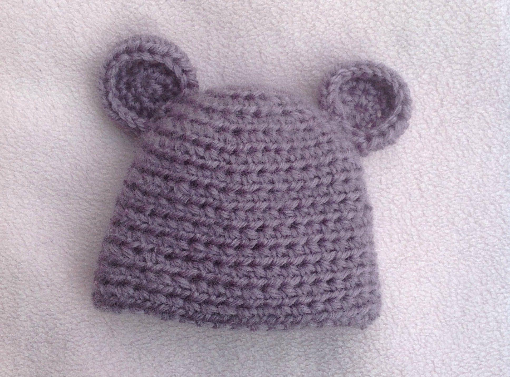 VERY EASY CROCHET BABY HAT TUTORIAL; BABY BEAR HAT | bebe ...