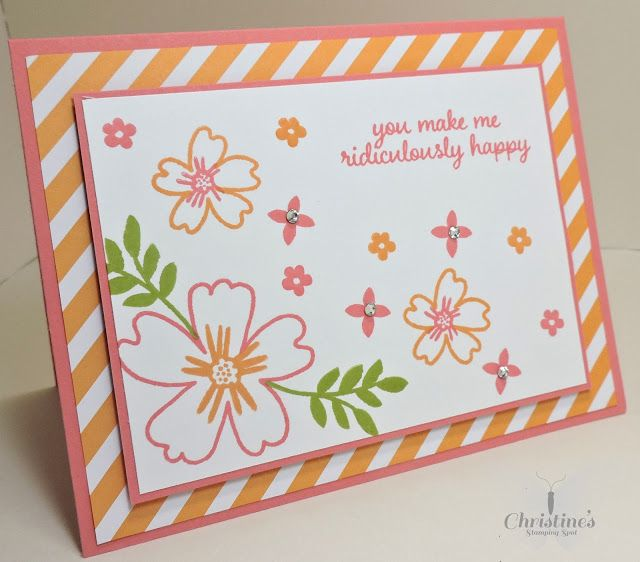 Christine's Stamping Spot, video on how to make this cute card!  Love and affection stamp set..