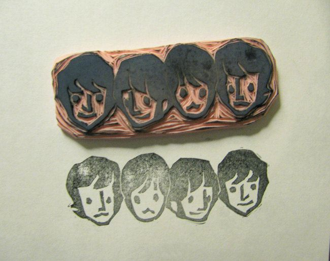 Early Beatles stamp. $12.00, via Etsy.