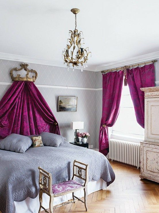 Nice Royal Purple Bedroom Ideas Part - 10: Royal Purple Bedrooms #2 - Pink Purple Gray Bedroom