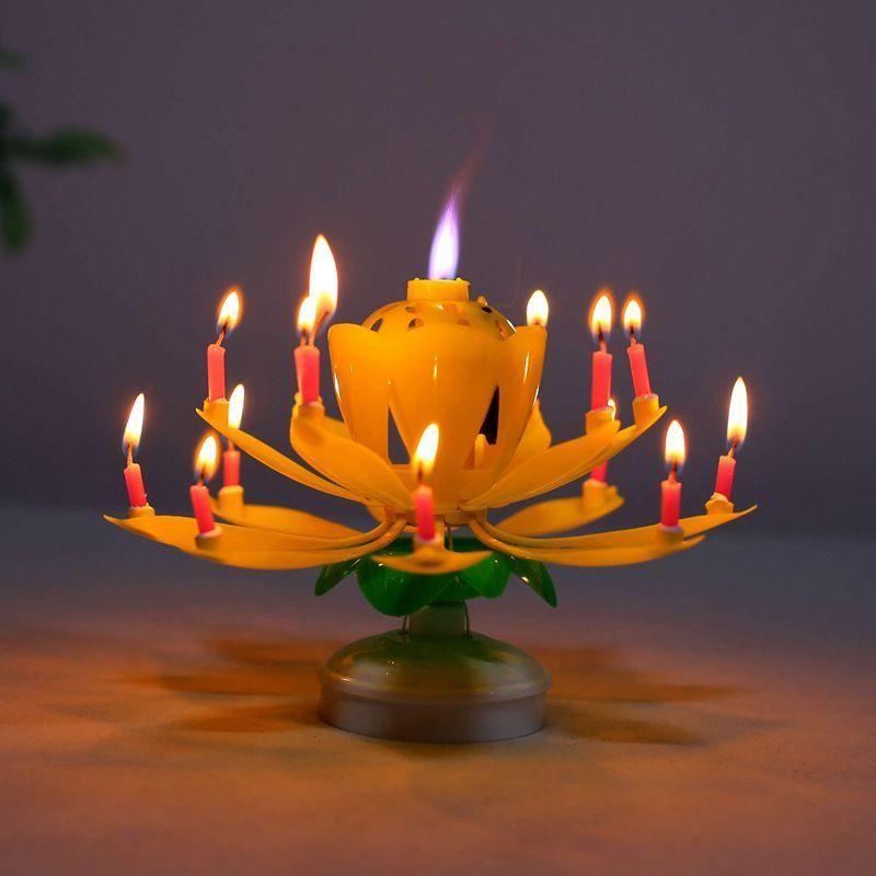 Magic Flower Birthday Candle - dealzninjaa in 2020 ...