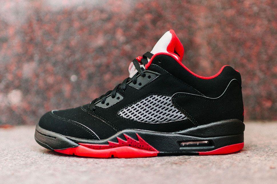 Air Jordan 5 Retro Low Black/Red