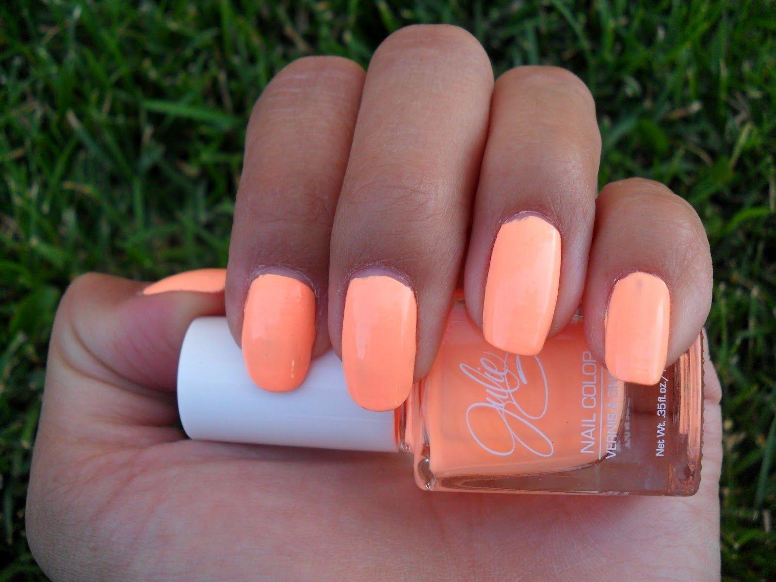 Neon Coral Nail polish! Love IT♥ | Neon\'s | Pinterest | Nagelschere