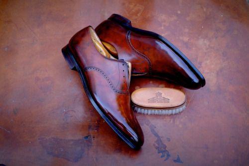 http://chicerman.com  dandyshoecare:  Crockett & Jones by Dandy Shoe Care  #menshoes