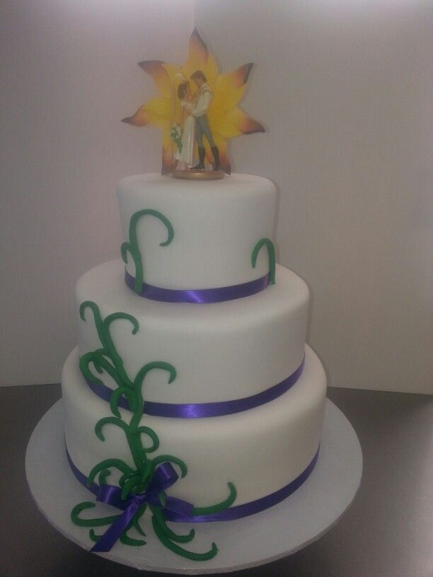 tangled wedding cake topper tangled themed wedding cake cake chic studio 20753