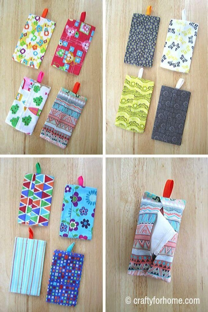 How To Sew Pocket Tissue Holder -   18 fabric crafts to sell gift ideas