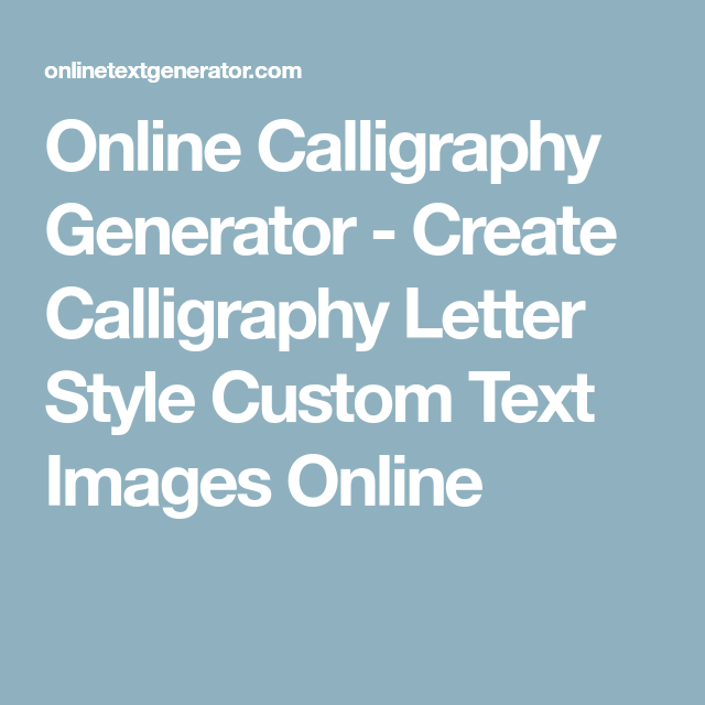 calligraphy how to create letters