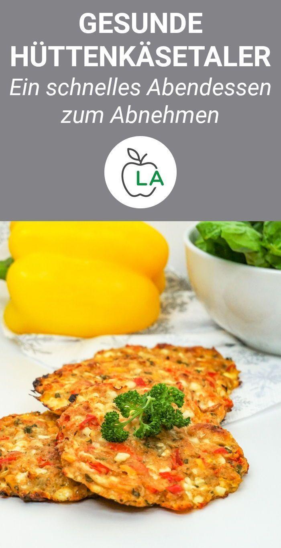 Bunte Hüttenkäsetaler - Gesundes und leckeres Rezept zum Abnehmen #vegetarischerezepteschnell