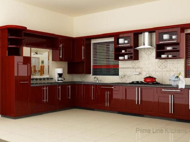 modern kitchen modular interior designs kerala dream touch designers rh pinterest com Modern Kitchen Cabinet Design Kitchen Cabinet Ideas