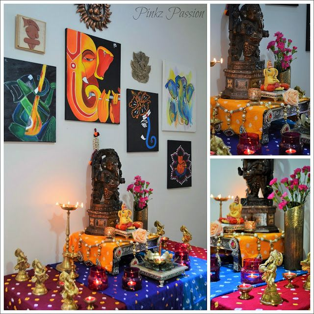 Ethnic Indian Decor For Festivals Festival Ganesh Chaturthi Ideas Ganesha Collage Wall Collection