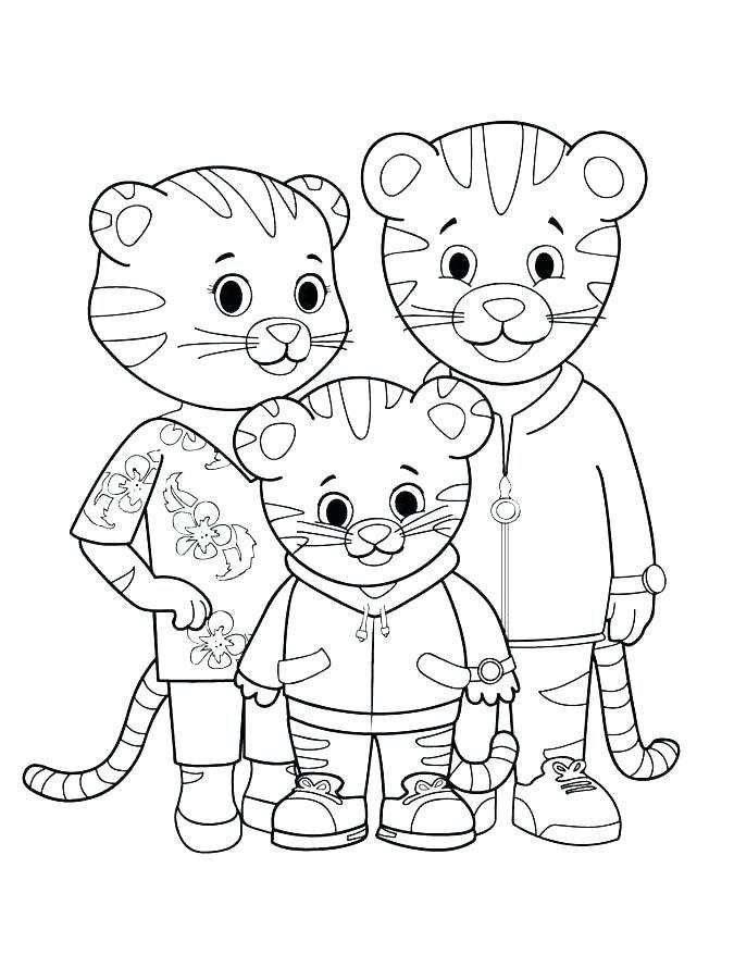 Free Printable Daniel Tiger Coloring Pages Decoromah In 2020 Family Coloring Pages Family Coloring Daniel Tiger