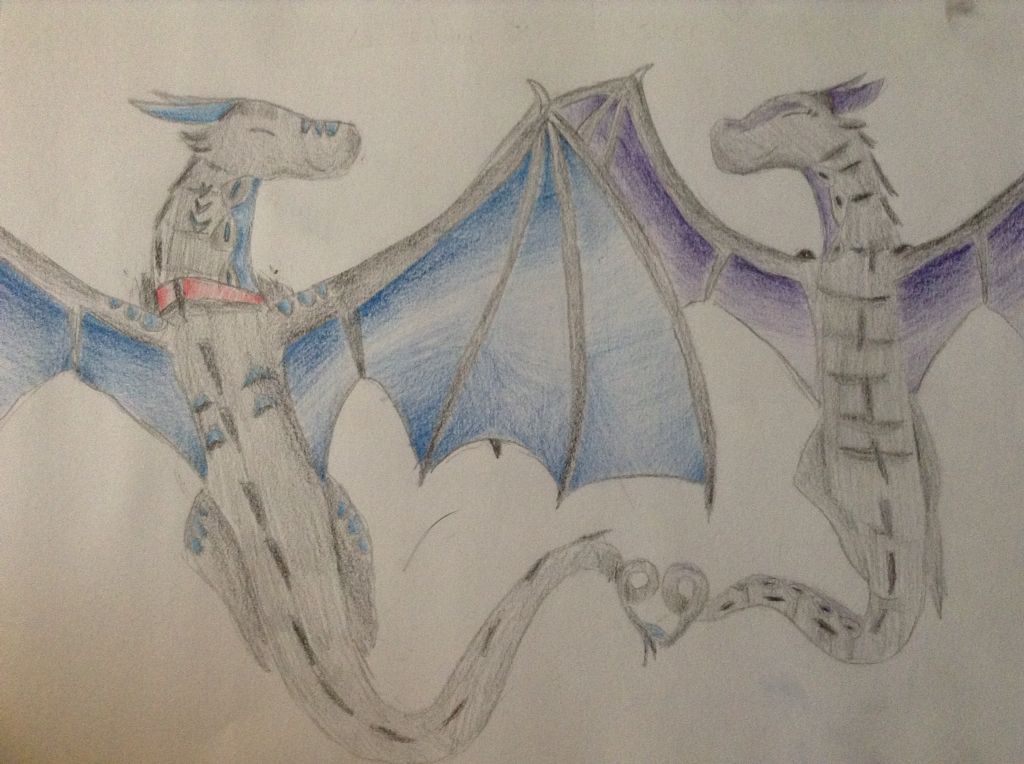 My wings of fire OC's, Zodiac and Starseer! Ship name: Stardiac