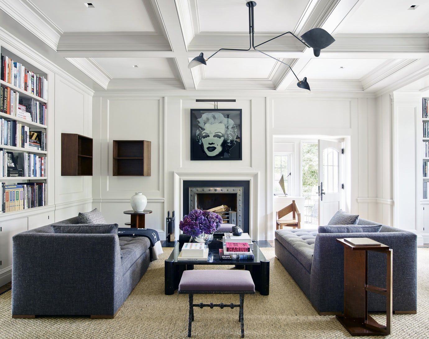 Crisp Sitting Room Greenwich, CT Great Room Living Home Office ...