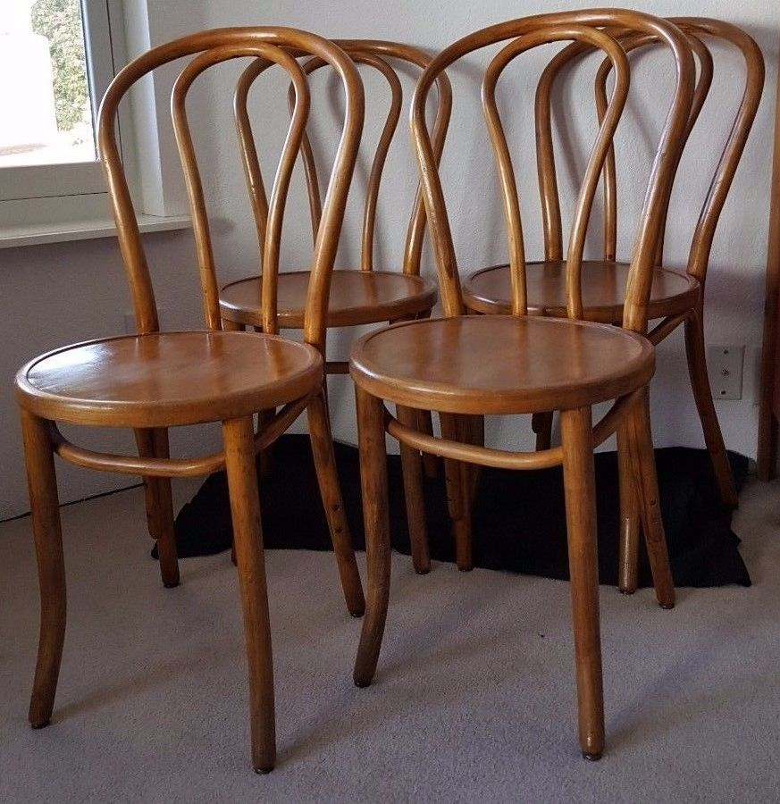 antique bentwood FOUR chairs Great Northern Chair Co, made
