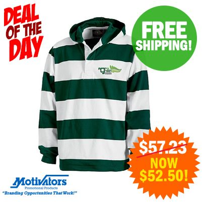 Fall is officially here! Check out our brand new unisex Hooded Rugby Pullover to keep you warm on a cool autumn night! #FreeShipping (#130414) http://bit.ly/1rp0rkM