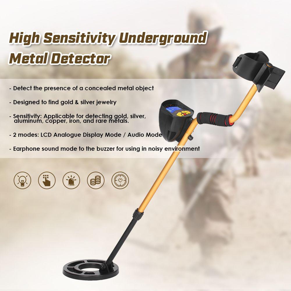 Professional Underground Metal Detector LCD Display Treasure Gold Hunter NQ