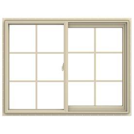 Jeld Wen V 2500 Left Operable Vinyl Double Pane Annealed Sliding Window Rough Opening 48 In X 36 In Actual 47 5 In X Sliding Windows Windows Traditional Windows