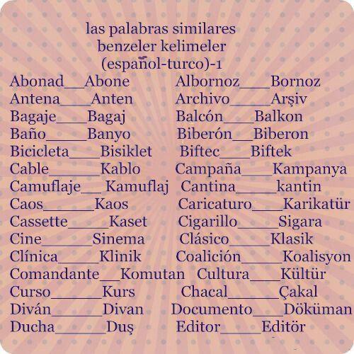 Pin En Aprendiendo Turco Frases